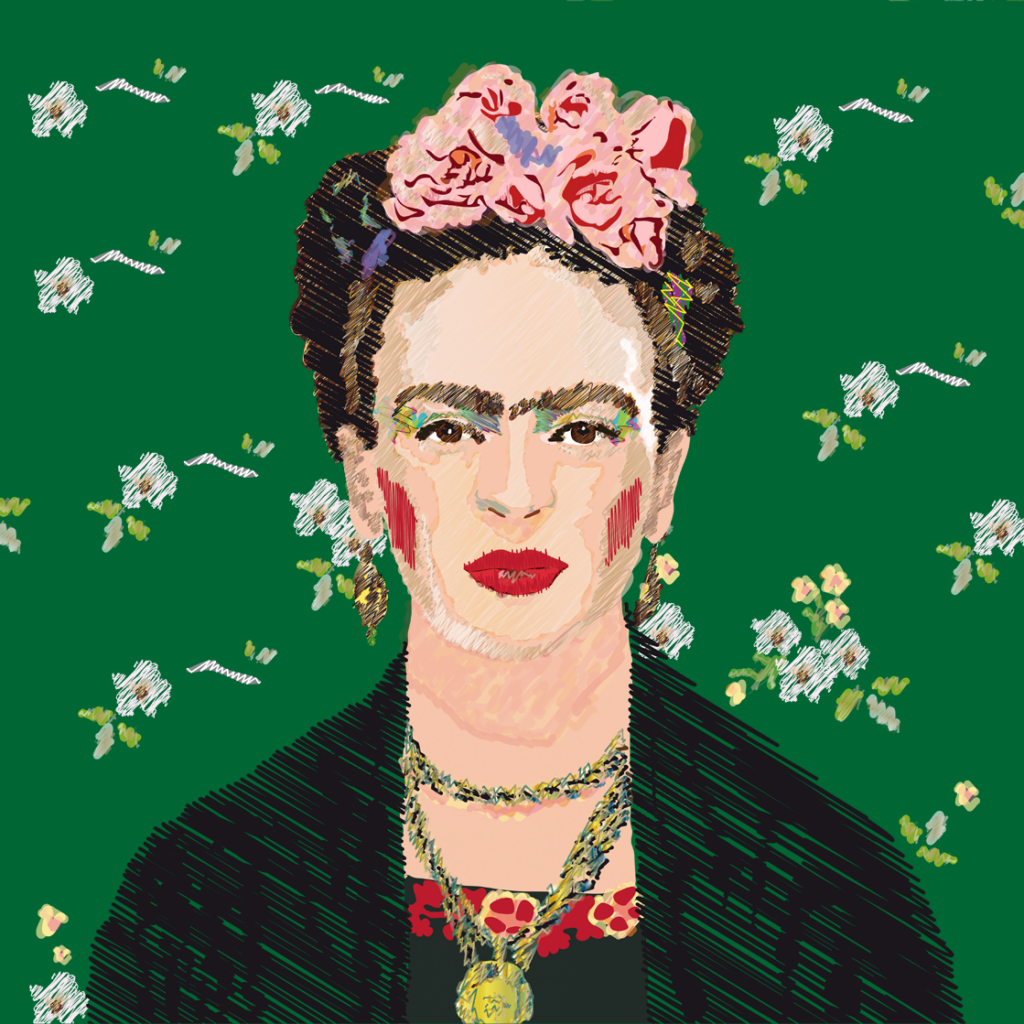 Retrato de la artista Frida Kahlo