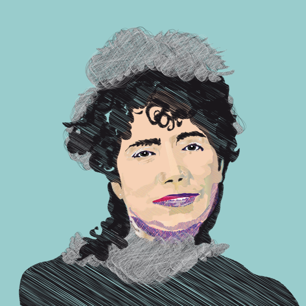 Retrato de la escritora gallega Rosalía de Castro